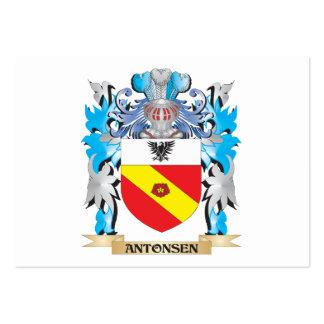 Escudo de armas de Antonsen Tarjeta Personal