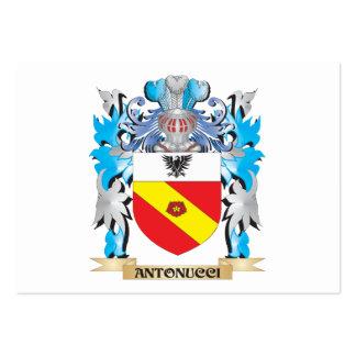 Escudo de armas de Antonucci Plantilla De Tarjeta De Negocio