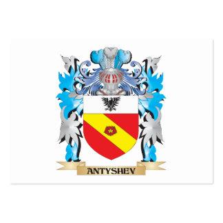 Escudo de armas de Antyshev Tarjetas De Visita