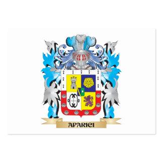 Escudo de armas de Aparici Tarjetas De Visita