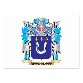 Escudo de armas de Apodoloff Tarjetas De Negocios