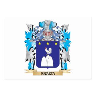 Escudo de armas de Araiza Plantilla De Tarjeta Personal