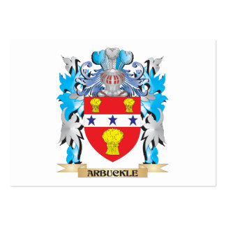 Escudo de armas de Arbuckle Tarjetas Personales