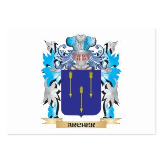 Escudo de armas de Archer Plantilla De Tarjeta De Negocio