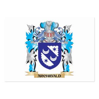 Escudo de armas de Archibald Tarjetas De Visita