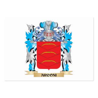 Escudo de armas de Arconi Tarjetas De Visita