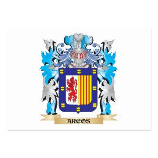 Escudo de armas de Arcos Tarjeta De Visita