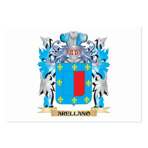 Escudo de armas de Arellano Plantillas De Tarjetas De Visita