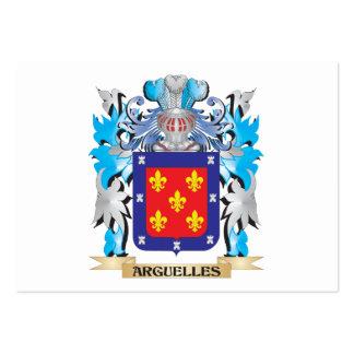 Escudo de armas de Arguelles Plantillas De Tarjeta De Negocio