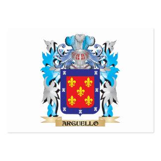 Escudo de armas de Arguello Tarjeta De Visita