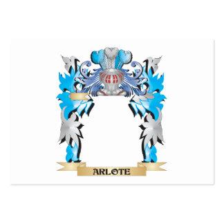Escudo de armas de Arlote Tarjetas De Visita