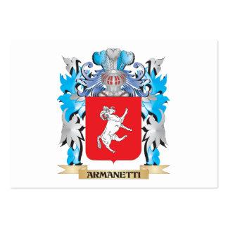 Escudo de armas de Armanetti Plantilla De Tarjeta De Visita
