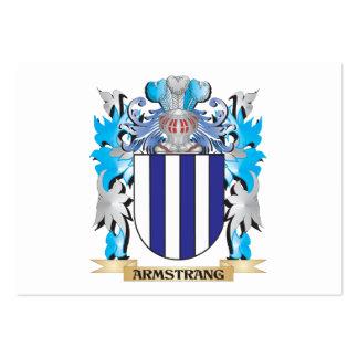Escudo de armas de Armstrang Tarjetas De Visita