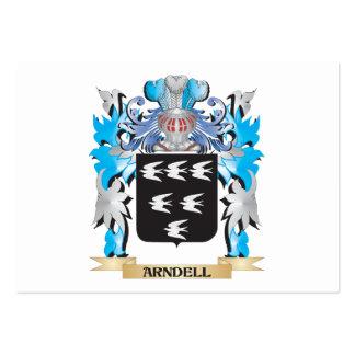 Escudo de armas de Arndell Plantillas De Tarjetas De Visita