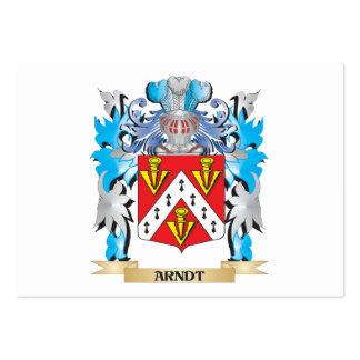 Escudo de armas de Arndt Tarjetas De Visita