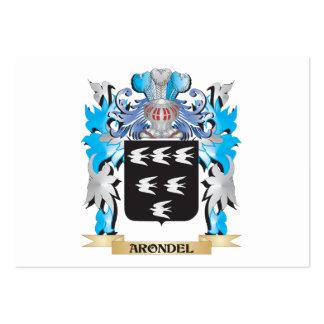 Escudo de armas de Arondel Tarjeta De Visita
