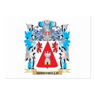 Escudo de armas de Arrichiello Tarjeta De Negocio