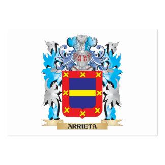 Escudo de armas de Arrieta Plantillas De Tarjetas De Visita