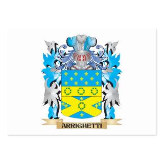 Escudo de armas de Arrighetti Tarjetas Personales