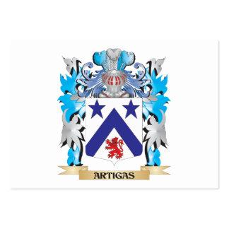Escudo de armas de Artigas Tarjetas De Visita