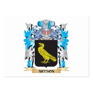 Escudo de armas de Artson Plantilla De Tarjeta Personal