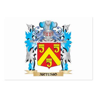 Escudo de armas de Artusio Tarjetas De Visita