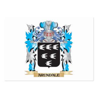Escudo de armas de Arundale Tarjetas De Visita