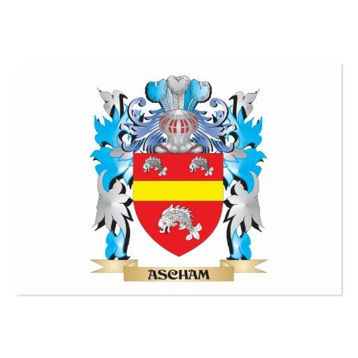 Escudo de armas de Ascham Tarjetas De Visita