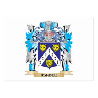 Escudo de armas de Ashbee Tarjetas De Visita