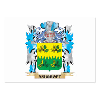 Escudo de armas de Ashcroft Tarjetas De Visita