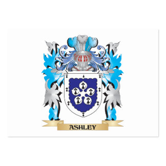 Escudo de armas de Ashley Plantillas De Tarjeta De Negocio