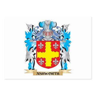Escudo de armas de Ashworth Tarjeta De Visita