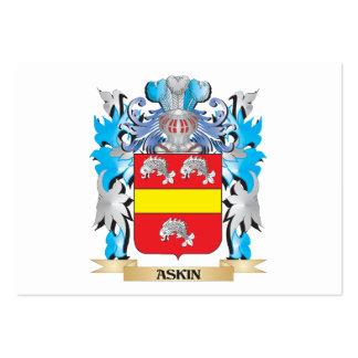 Escudo de armas de Askin Tarjeta Personal