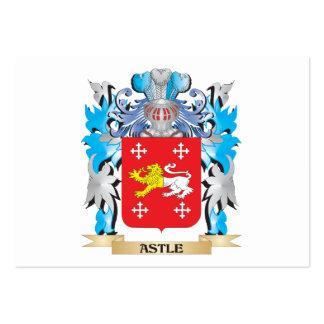 Escudo de armas de Astle Plantillas De Tarjetas De Visita