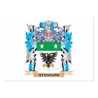 Escudo de armas de Atchison Tarjetas De Visita