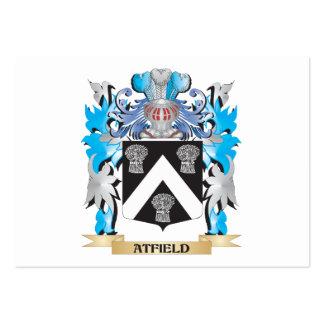 Escudo de armas de Atfield Tarjeta De Visita