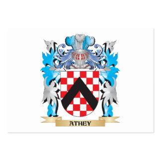Escudo de armas de Athey Tarjeta De Visita