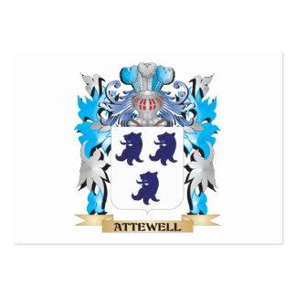 Escudo de armas de Attewell Plantilla De Tarjeta De Visita
