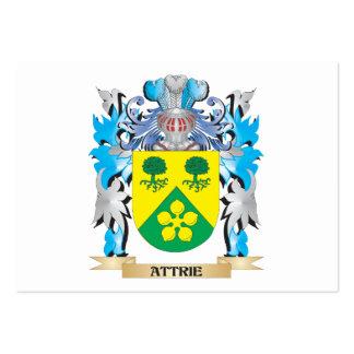 Escudo de armas de Attrie Plantilla De Tarjeta De Negocio
