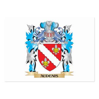 Escudo de armas de Audenis Tarjeta De Visita