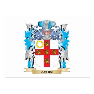 Escudo de armas de Audin Tarjetas De Visita