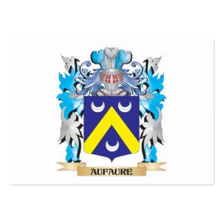 Escudo de armas de Aufaure Plantilla De Tarjeta De Negocio