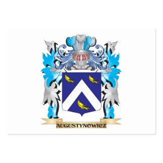 Escudo de armas de Augustynowicz Tarjetas De Visita