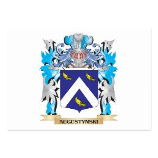 Escudo de armas de Augustynski Tarjetas De Visita