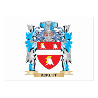 Escudo de armas de Aukett Plantilla De Tarjeta De Negocio