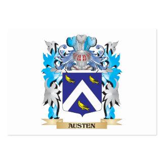 Escudo de armas de Austen Plantillas De Tarjeta De Negocio