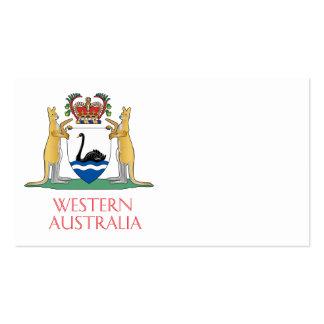 Escudo de armas de Australia occidental Tarjetas De Visita