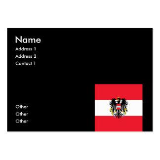 Escudo de armas de Austria Plantillas De Tarjeta De Negocio