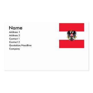 Escudo de armas de Austria Tarjetas De Visita