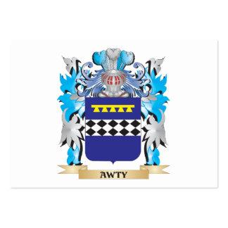 Escudo de armas de Awty Plantilla De Tarjeta Personal